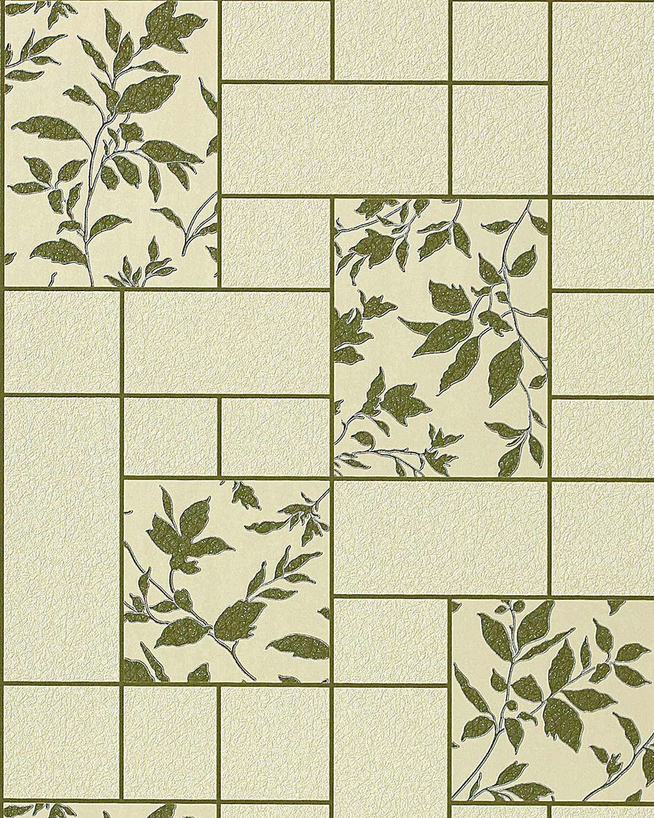 ... 25 e bagno lavabile a piastrelle con fiori in verde beige verde oliva