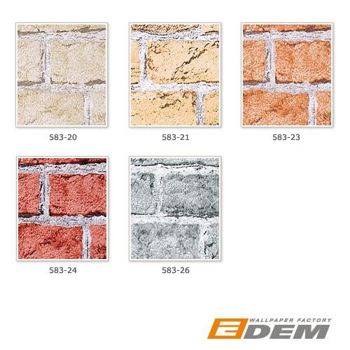Carta da parati muro di mattoni edem 583 24 invecchiato for Carta da parati effetto muro finta pietra