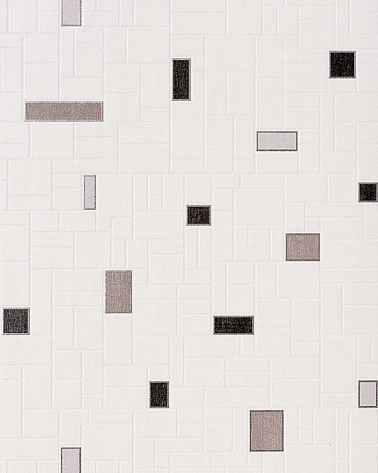 Carta da parati con effetto tiles e mosaico edem 584 20 di piastrelle per cucina e bagno - Carta da parati lavabile per bagno ...