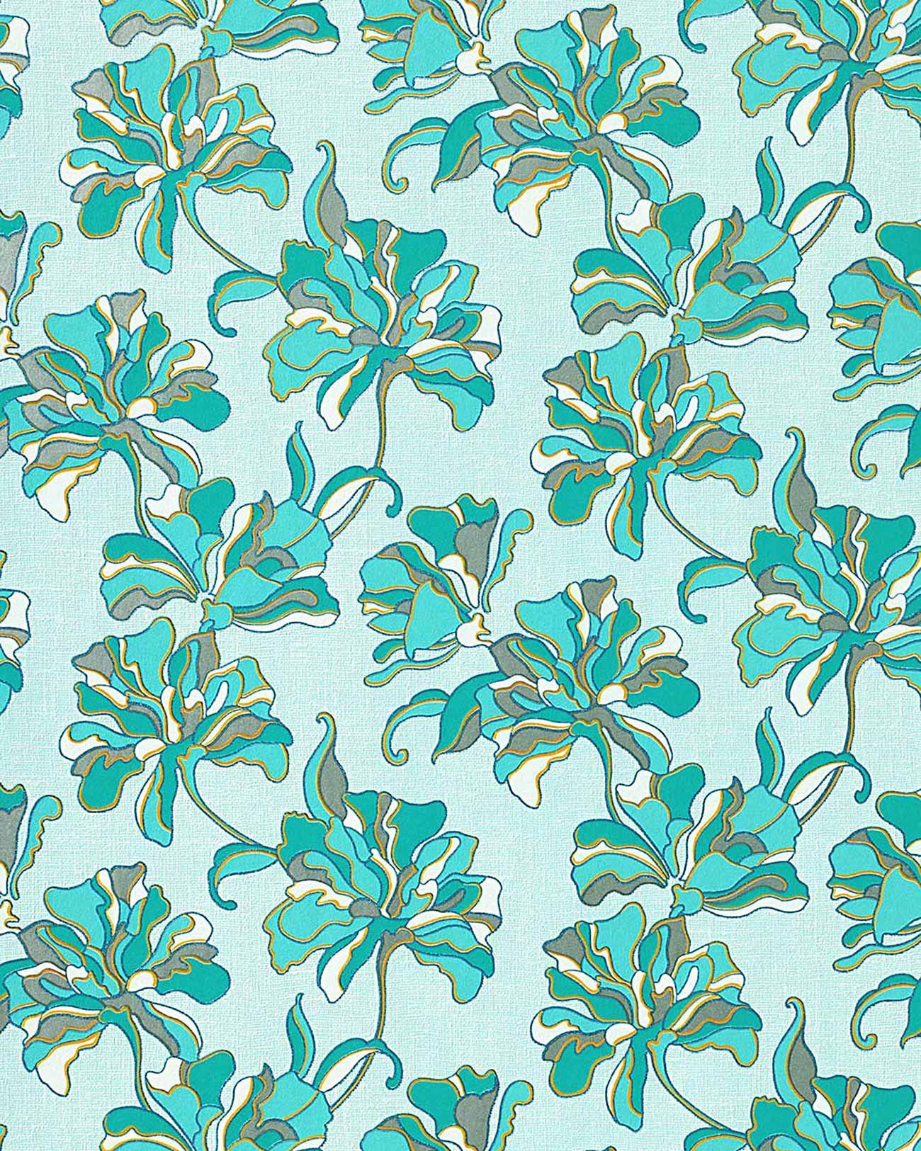 Tapeten Asiatische Muster : Blumentapete EDEM 072-22 Tapete Floral Designer Blumen Vinyltapete