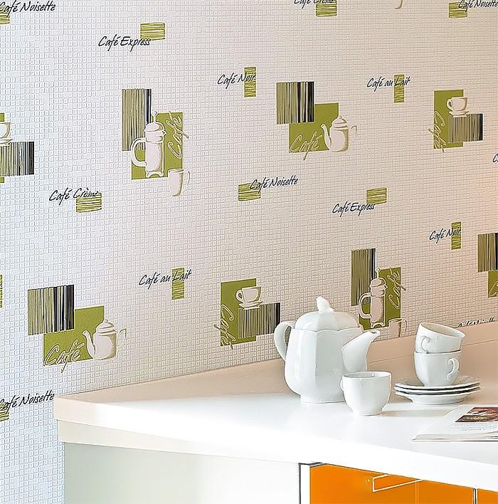 Carta da parati caff piastrelle mosaico edem 062 20 per - Carta da parati moderna per cucina ...