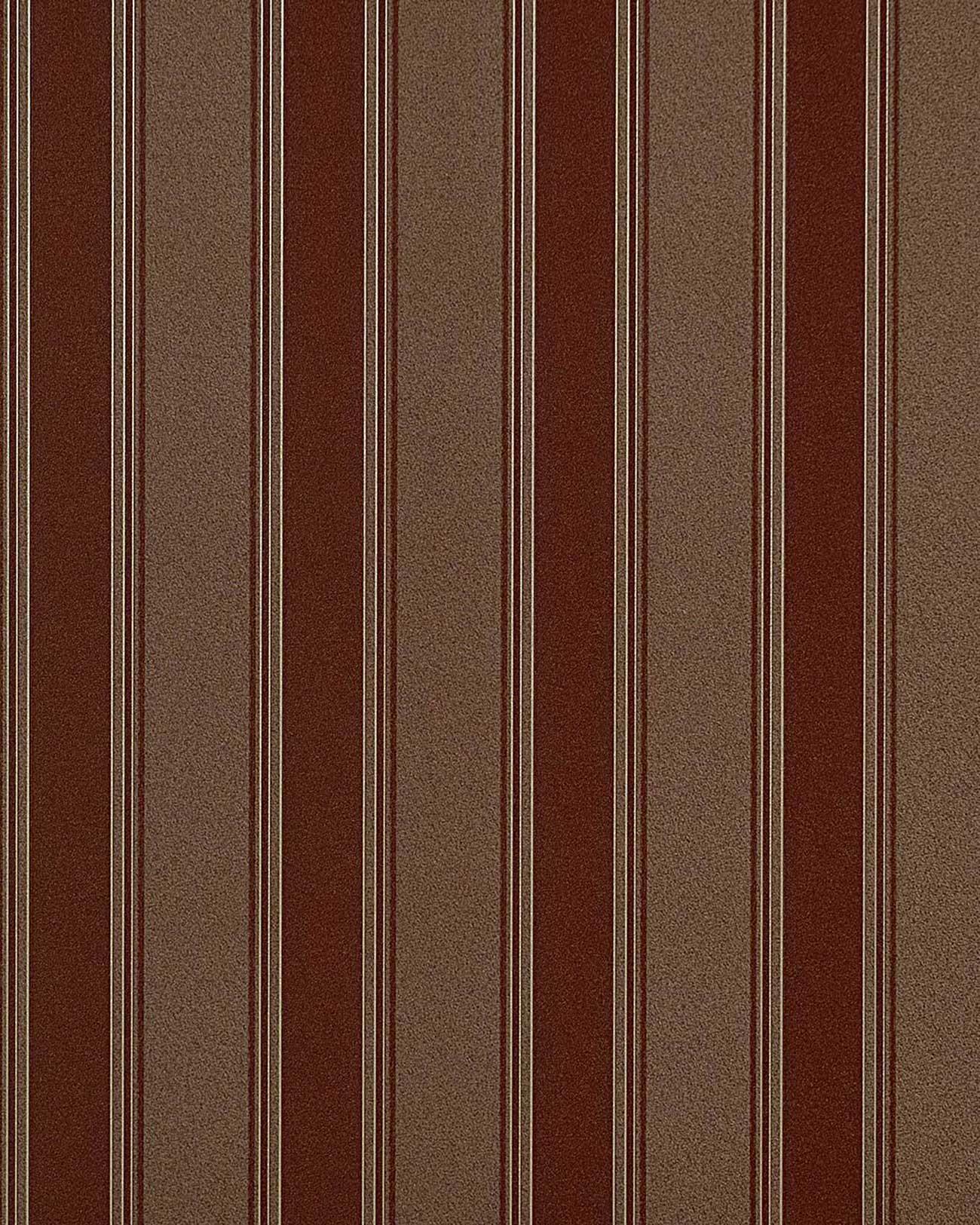 carta da parati a righe tortora : Carta da parati goffrata EDEM 827-26 a righe in marrone terracotta ...