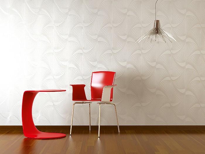 carta da parati goffrata di lusso disegno astratto 3d edem 832 25 stile retro in marrone. Black Bedroom Furniture Sets. Home Design Ideas