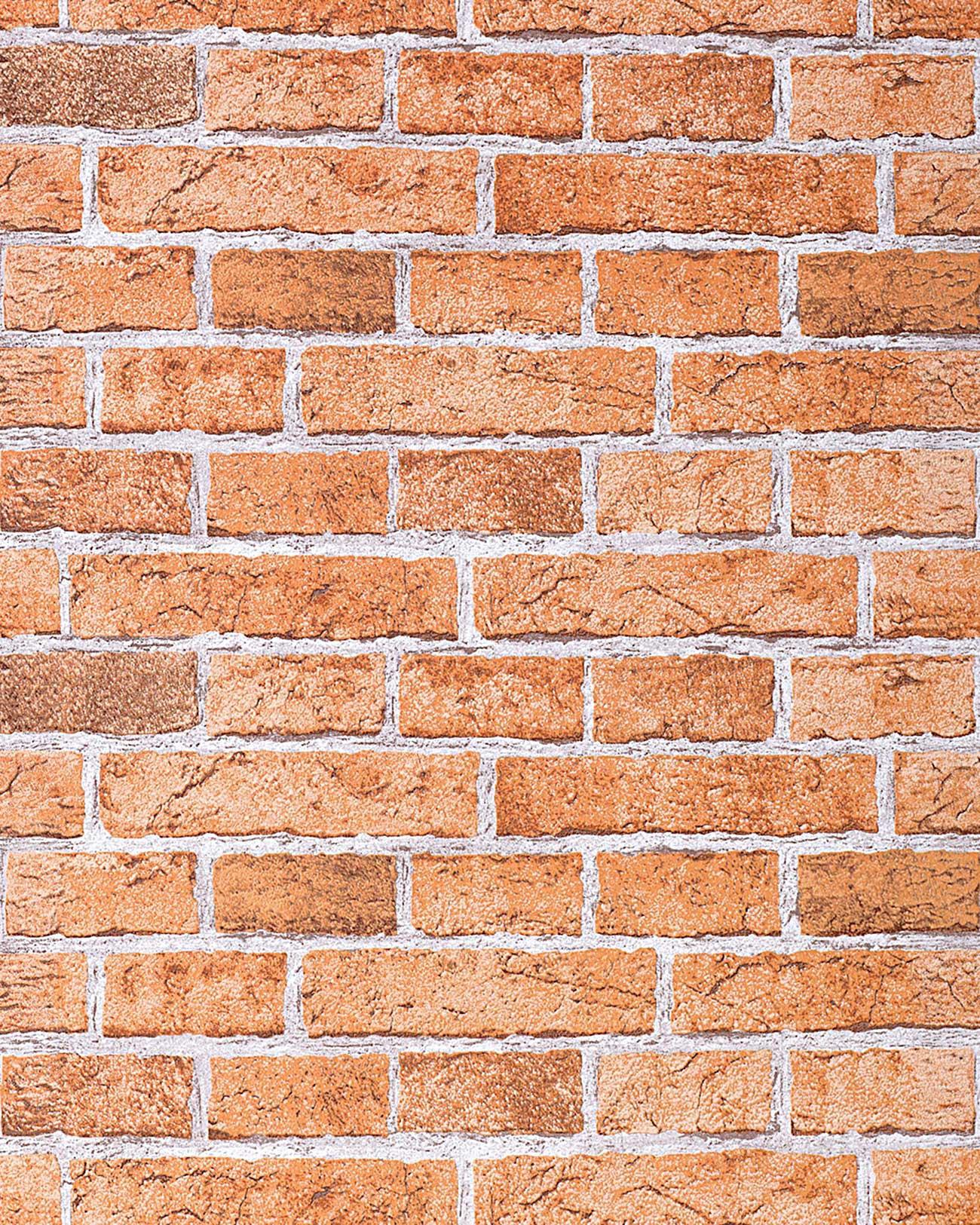 Carta da parati muro di mattoni edem 583 23 invecchiato for Carta da parati effetto muro mattoni