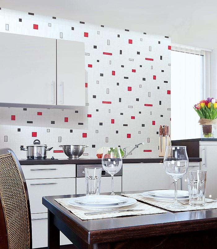 Carta da parati con effetto tiles e mosaico edem 584 20 di for Carta da parati per piastrelle cucina