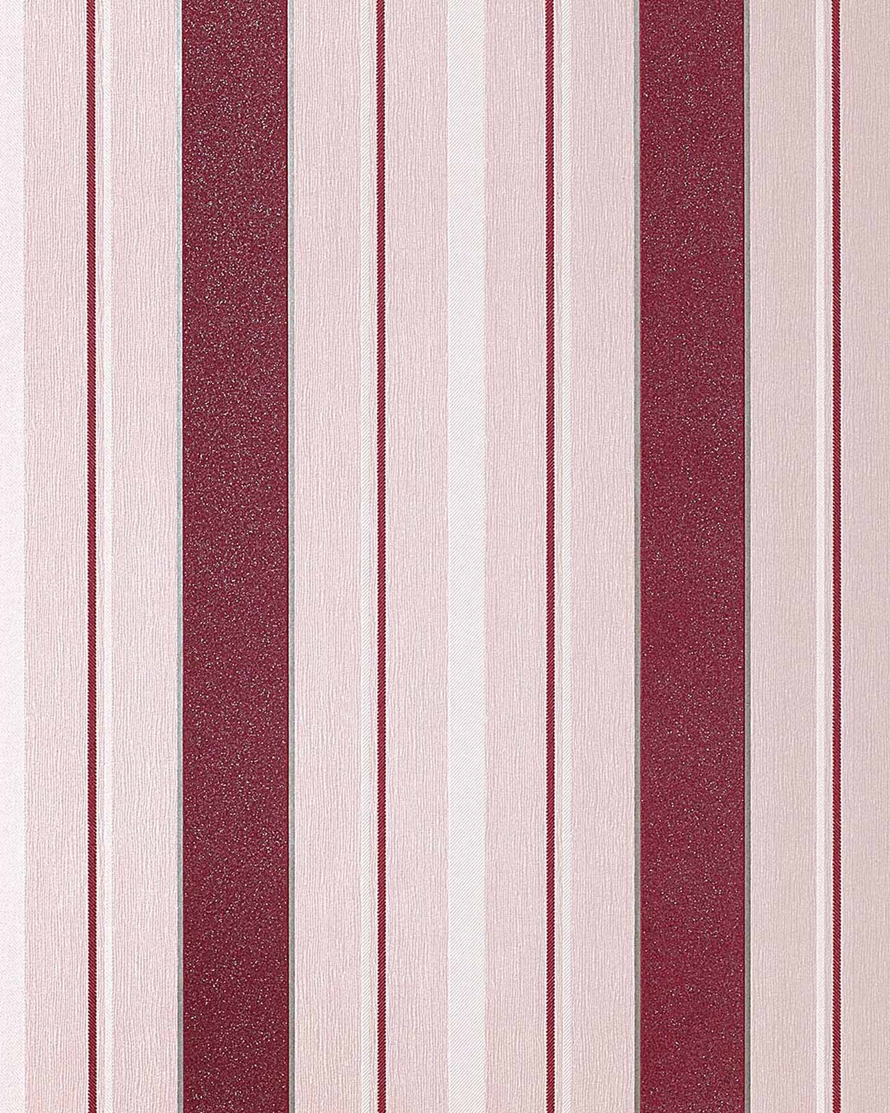 Carta da parati a righe con disegno a strisce EDEM 069-24 in violetto ...
