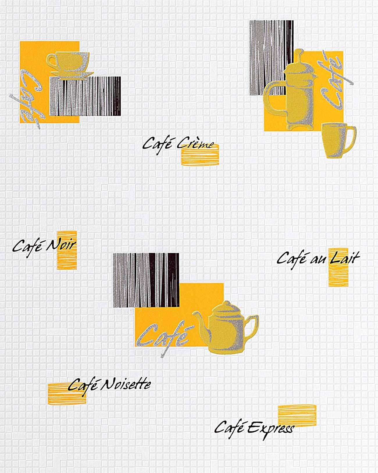 Carta da parati caff piastrelle mosaico edem 062 21 per - Carta da parati x cucina ...