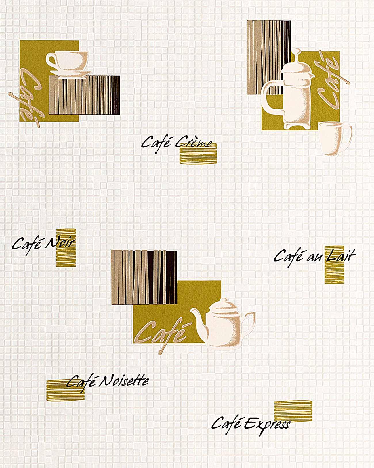 Carta da parati caff piastrelle mosaico edem 062 25 per for Carta adesiva piastrelle cucina