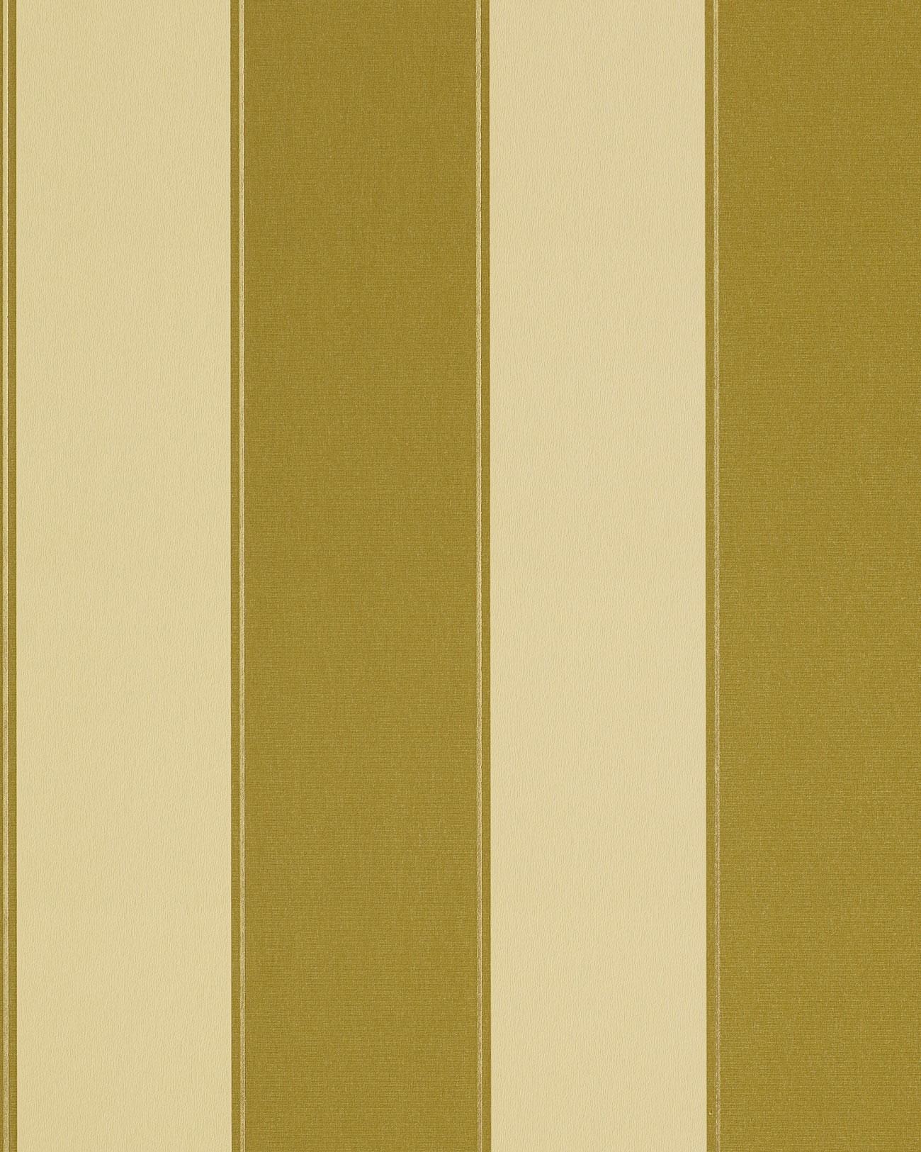 Carta da parati disegno classico EDEM 771-31 a righe colore verde oliva giallo bronzo