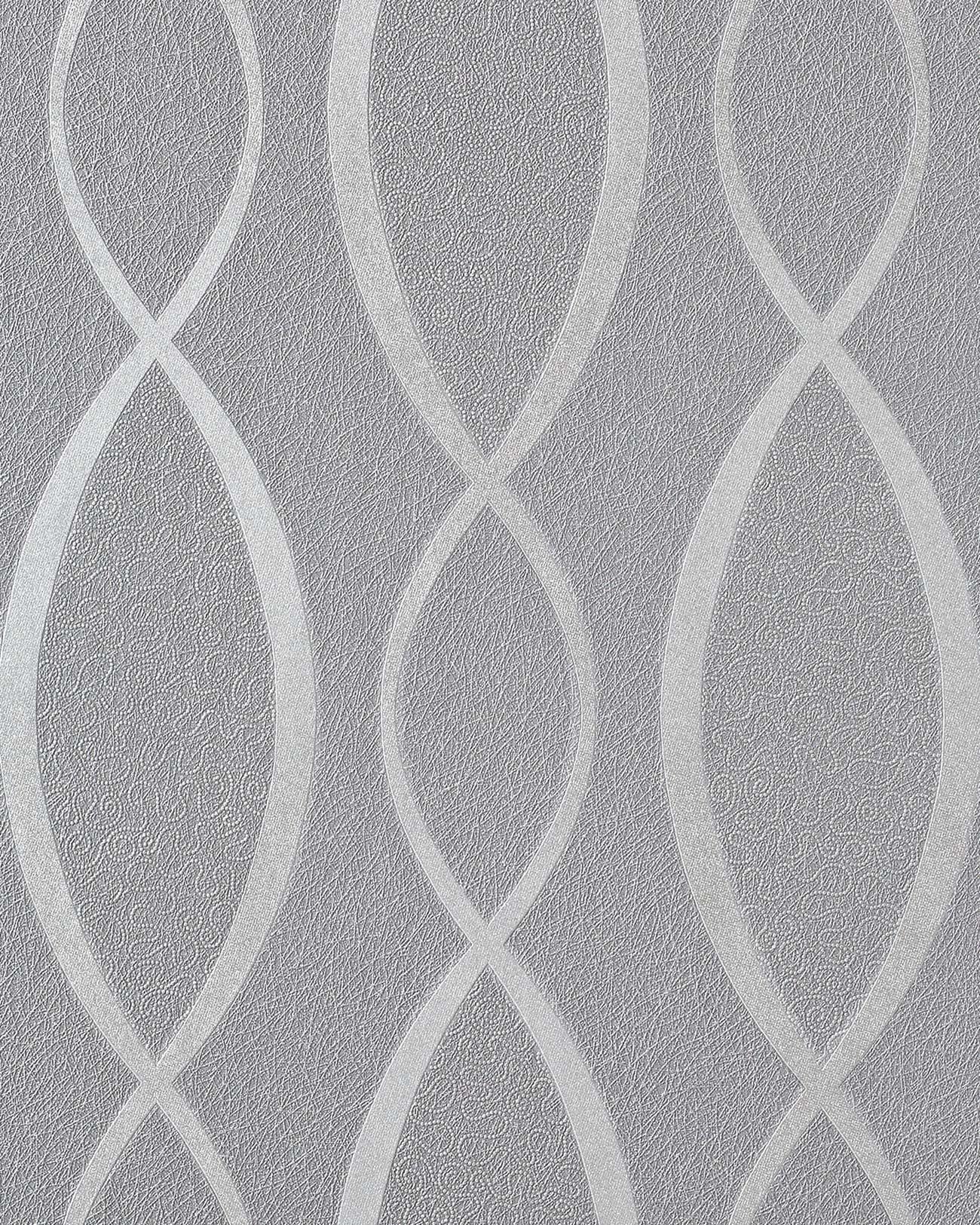 ... 16 carta da parati a linee ondulate incrociate glitterata stile Retro